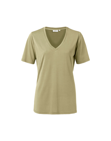 1919121-013 61110 - Modal V-neck T-shirt (Greyish green)