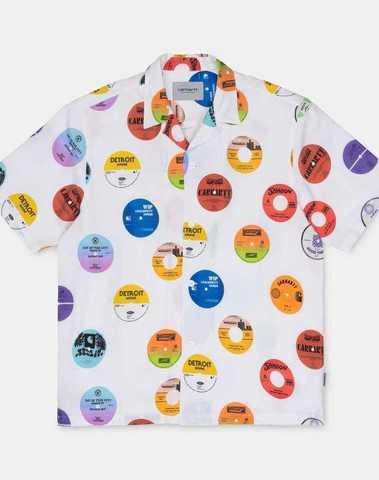 I027529_09I_00 - S/S Record Shirt  (White)