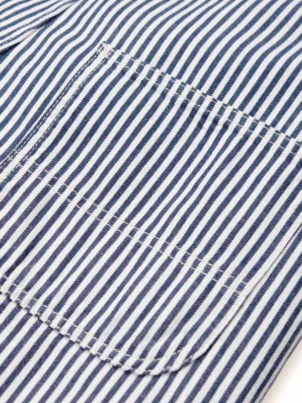 I028010_981_02 - W' Bib Overall Straight (Blue/white rinsed)