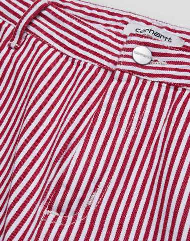 I028194_0D5_02 - W' Pierce Pant Straight (Red/white rinsed)