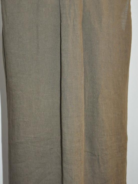 120%lino - 04720/B317- Robe lin (khaki)