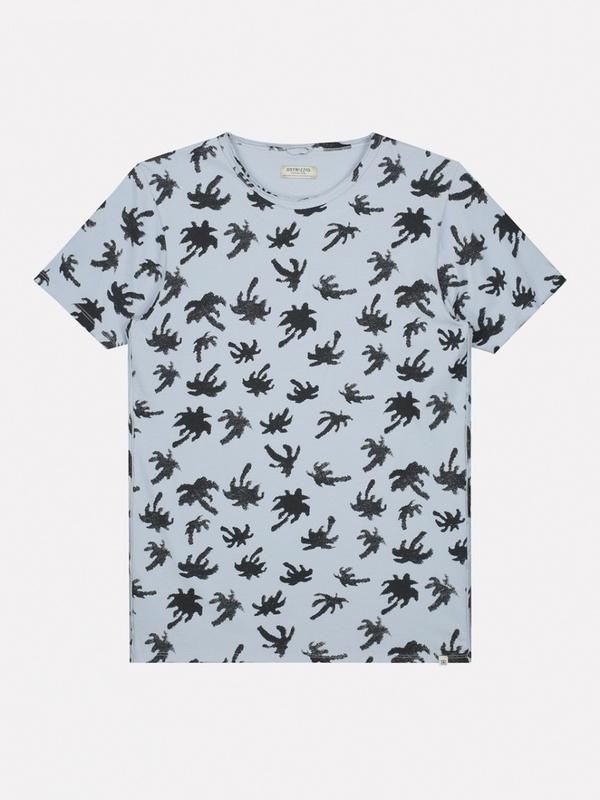 202510 646 - Round neck tee palm jersey (Lt. Blue)