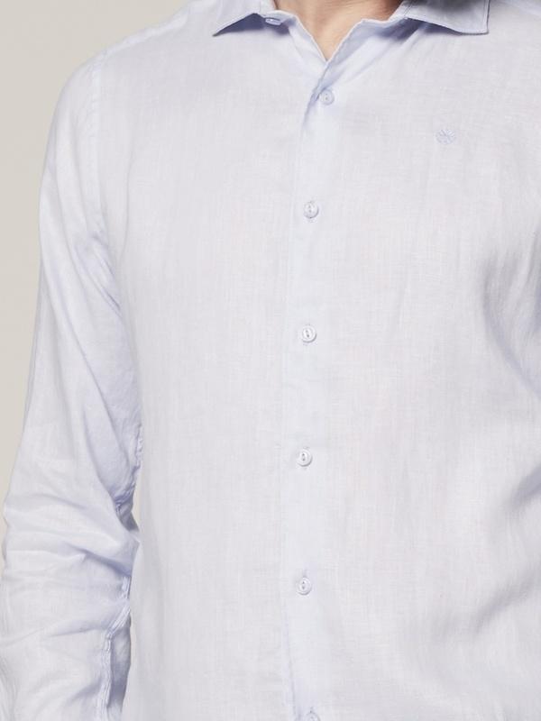 303300 646 - Shirt Cut Away Linen (Lt. Blue)