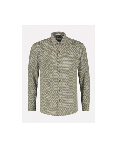 303302 511 - Shirt l/s Micro Graphic Stretch Jersey (Army Green)