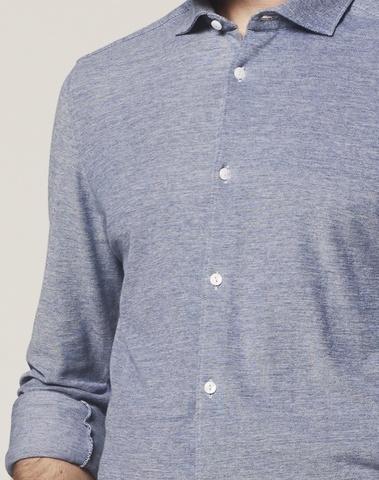 303321 625 - Shirt Cut Away Mel. Pique (Blue)