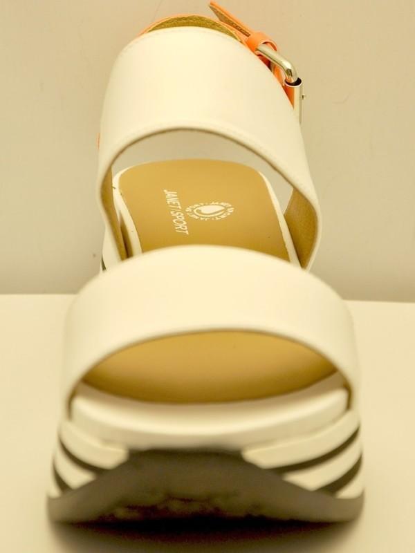 45800 BIANCO/ARANCIA - Sandale (Balnc/orange)