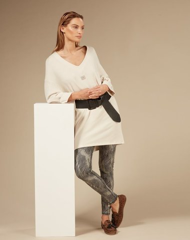 20-346-0203 1078 - V tunic fleece (Light safari)
