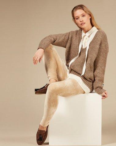 20-025-0203 1041 - Legging velvet (Champagne)