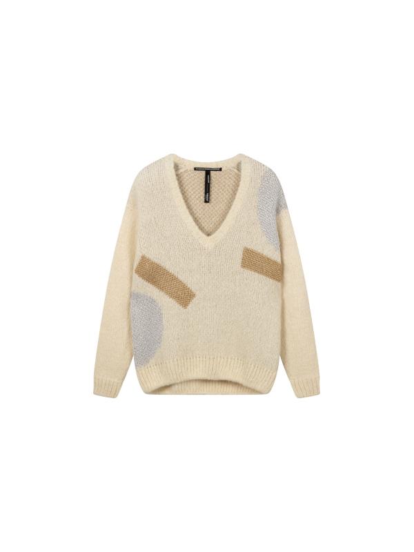 20-607-0203 1002 - Sweater big ten (Ecru)