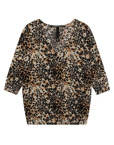 20-611-0203 1043 - Sweater leopard (Winter White)