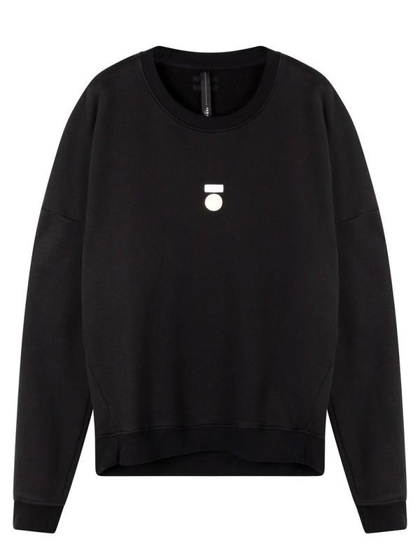 20-810-0203 1012 - Foil print sweater (black)