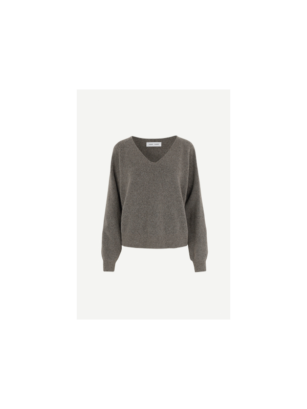 F20400015 00068 - Frances v-neck (Warm grey mel.)