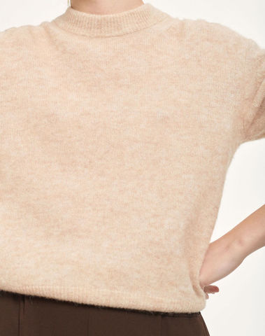 F20400016 00037 - Jaci crew neck ( Winter wheat mel. )