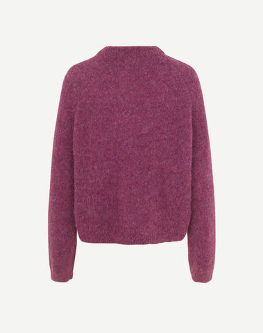 F20400058 00522 - Neta crew neck ( Purple jasper )