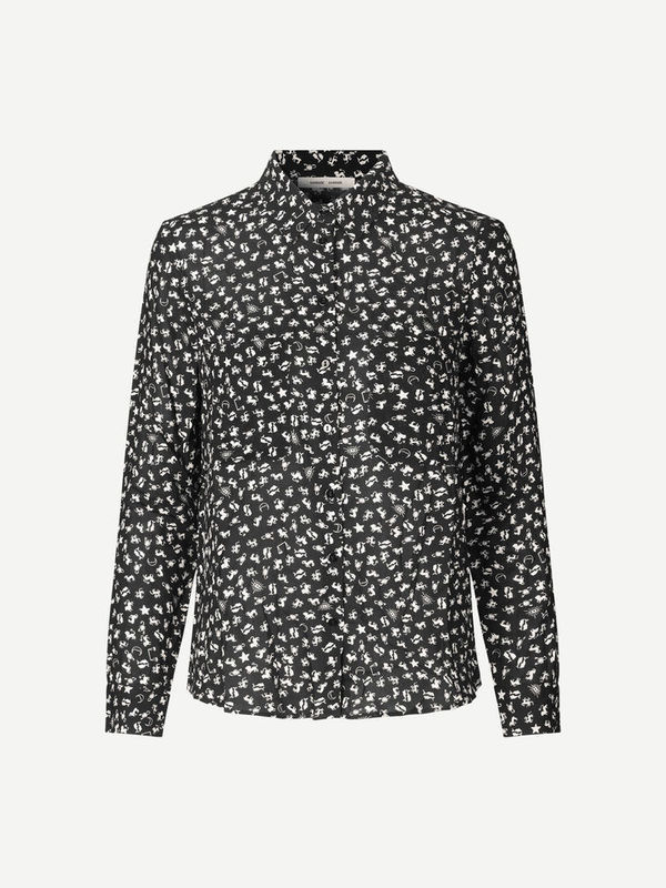 F16301086 00534 - Milly shirt aop (Dark sky )