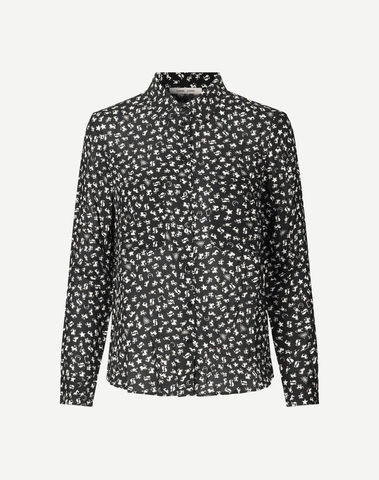 F16301086 00534 - Milly shirt aop (Dark sky )