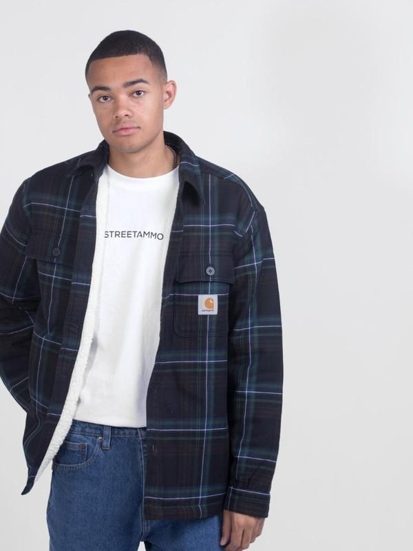 I028216 2690 - Aiden Shirt Check (Soot)