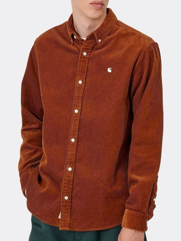 I025247 0E9 - L/S Madison Shirt  (Brandy/Wax)