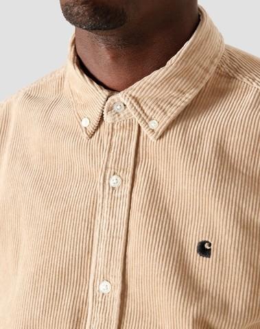 I025247 G19 - L/S Madison Shirt  (Wall/Black)