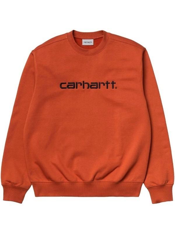 I027092 0F0 - Carhartt Sweat (Cinnamon/Black)