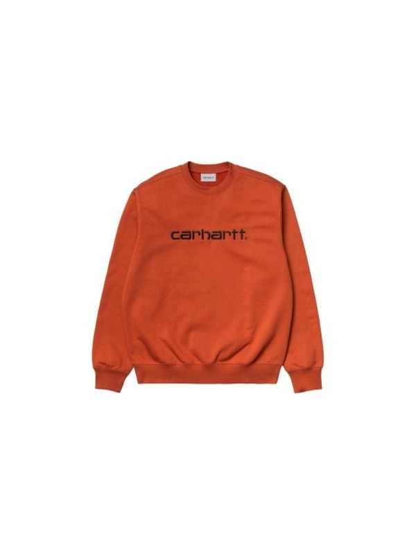 I027092 0F0 - Carhartt Sweat (Cinnamon/Black)