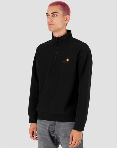 I027014 8900 - Half Zip Sweat (Black)