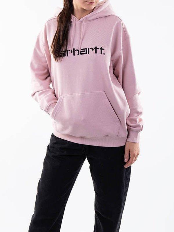I027479 0F5 - W'Hooded Sweat (Pink/Black)