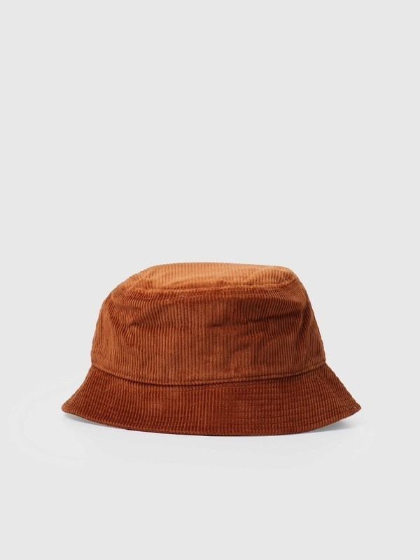 I028162 0E90 - Cord Bucket Hat (Brandy)