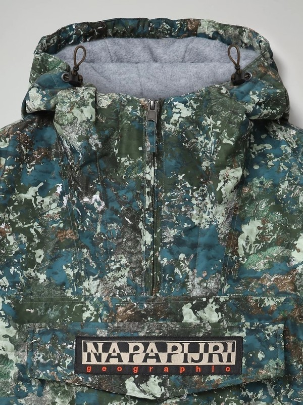 RAINFOREST PKT PRT1 F2U - Veste (Green AOP)