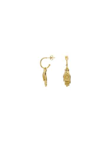 BO-107.G - Boucles d'oreilles PROTECTING HAND (Gold)