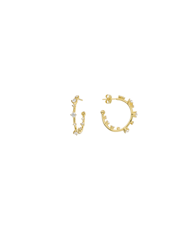 BO-96.G - Boucles d'oreilles LITTLE HOOPS (Gold)