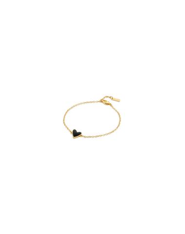 BR-131.G - Bracelet BLACK HEART (Gold)