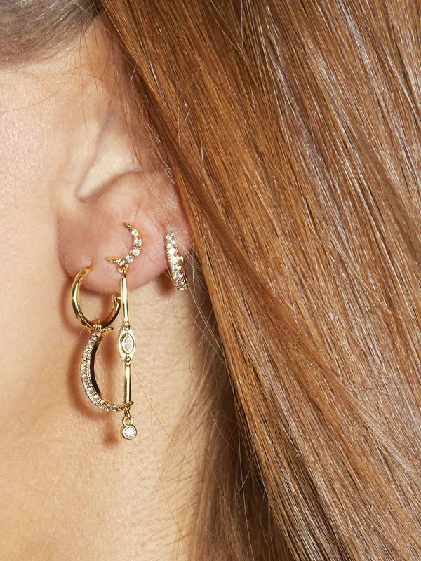 BO-112.G - Boucles d'oreilles MOON (Gold)