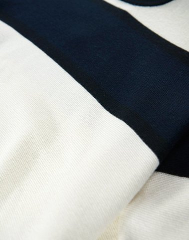 Essentiel - M-NUBUCK N1CM - PULL (Blanc cassé/marine)