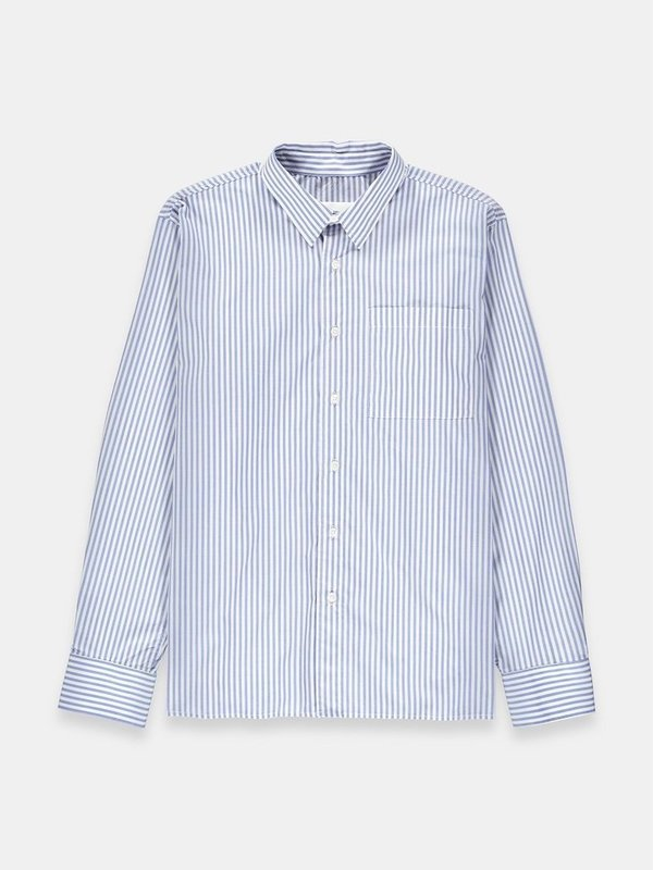 Essentiel - M-NARIO N1PB - CHEMISE  RAYÉE ( bleu pâle/blanc )