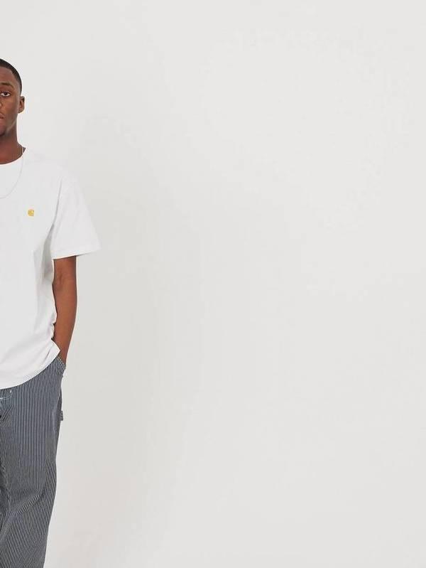 I026391_02_90 - S/S Chase T-Shirt  (White/gold)