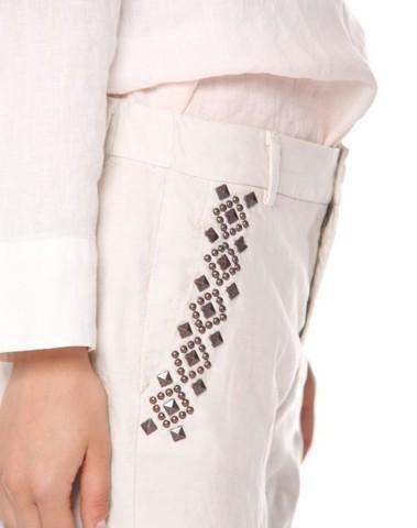 4PNT3L093B MB043 985 - Pantalon LINDASUMMER (Stucco)