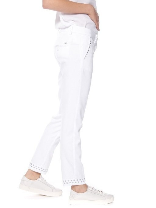 4PNTD1013B FEB010 001 - Pantalon NEWYORKSLIM (Bianco)