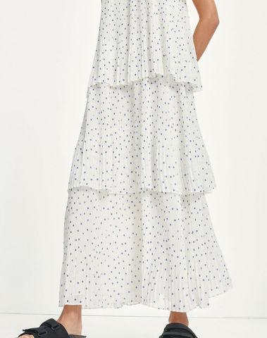 F21100127 00178 - Tatiana dress aop (Clemats dot)