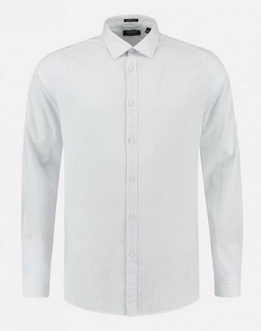 303424 100 - Shirt Jaquard Dot Stripe  (White)