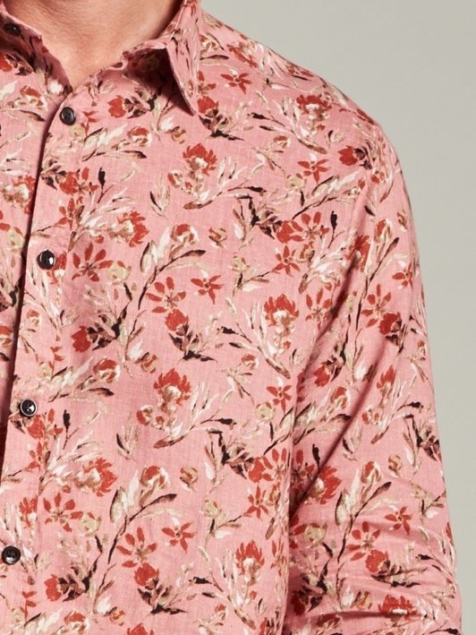 303430 436 - Shirt Small Flower   (Old Rose)