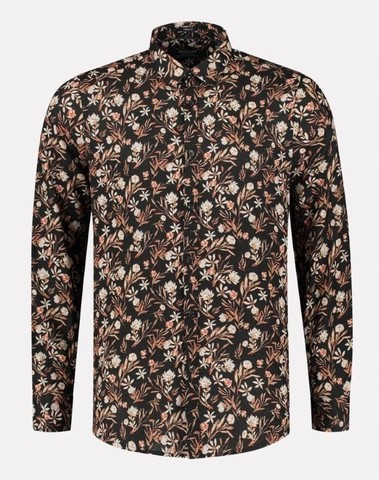 303430 999 - Shirt Small Flower   (Black)