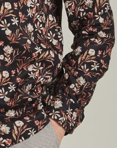 303430 999 - Shirt Small Flower   (Black)