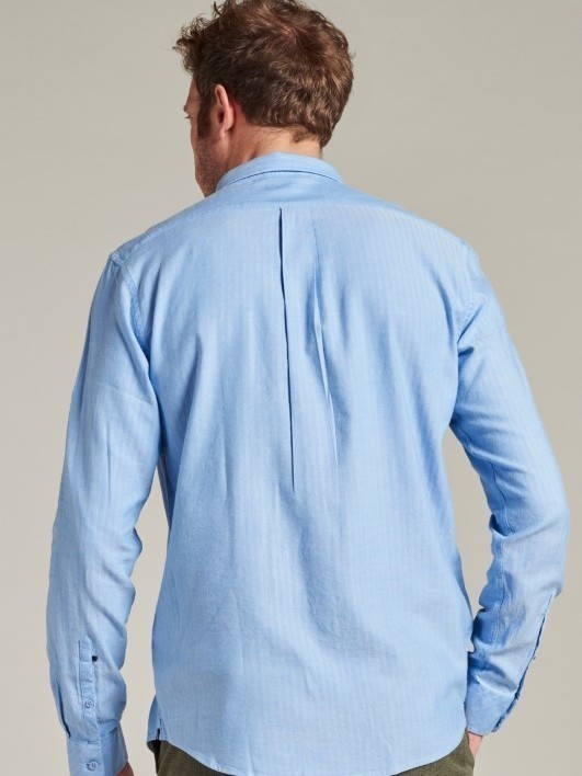 303444 628 - Shirt Soft herringbone (Sky)