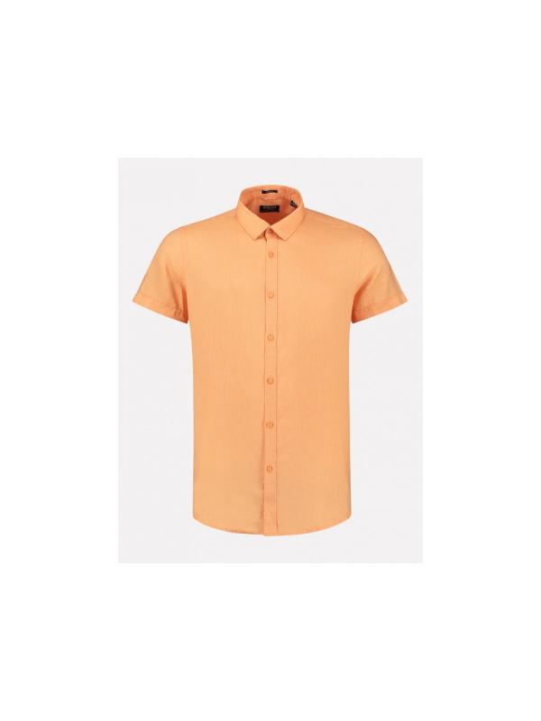 311224 442 - Shirt S/S linen (Pumpkin)
