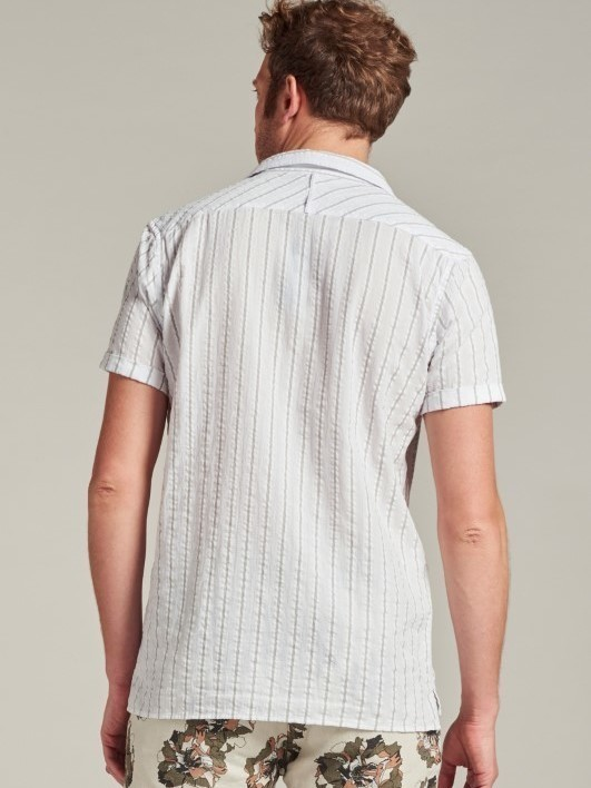 311230 100 - Shirt S/S Seesucker (White)