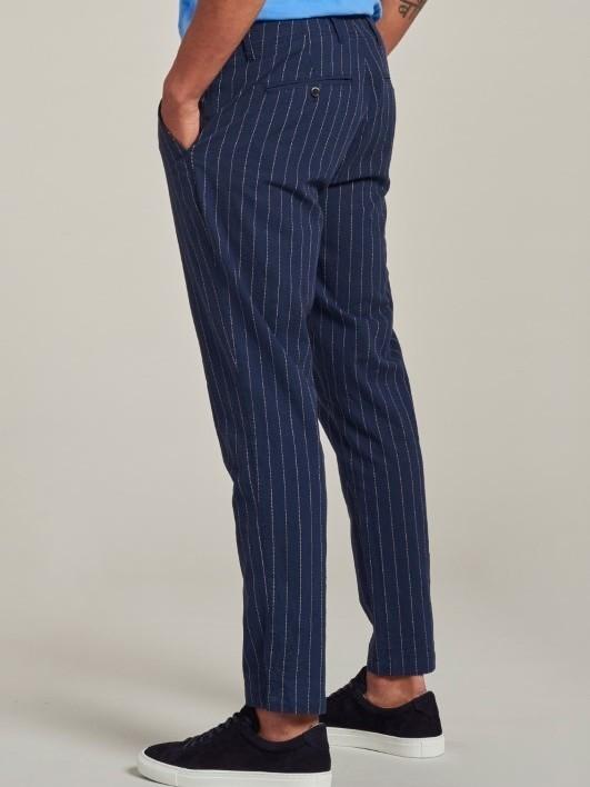 501468 669 - Beach Pants Slub Pinstripe (Navy)