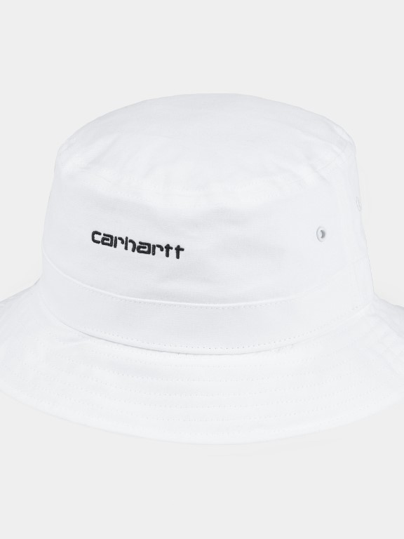 I026217 0290 - Script Bucket Hat  (White/black)