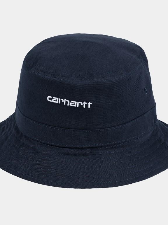 I026217 1c90 - Script Bucket Hat  (Dk. Navy/white)