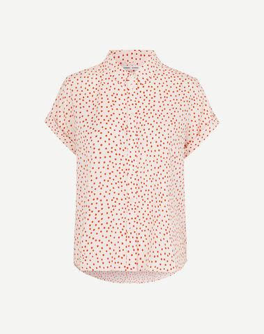 F19223315 00183 - Majan ss shirt aop (Pearl drops)